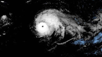 Hurricane Lorenzo satellite image