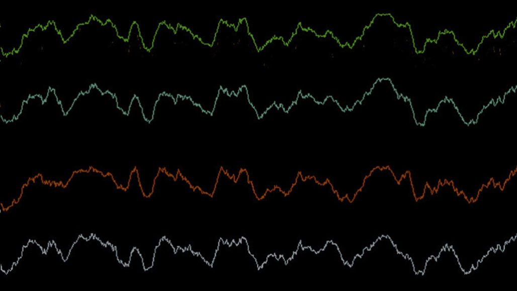 line representation of brain waves