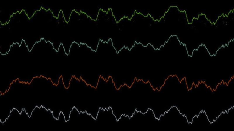 line representation of brain waves