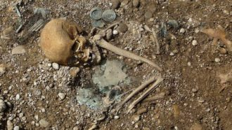 Bronze Age skeleton