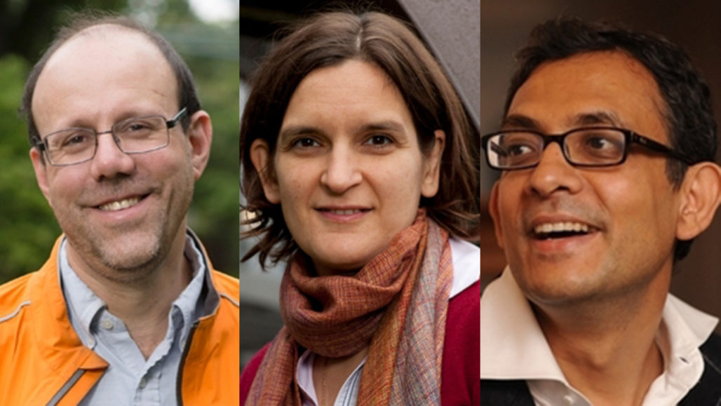 Michael Kremer, Esther Duflo and Abhijit Banerjee
