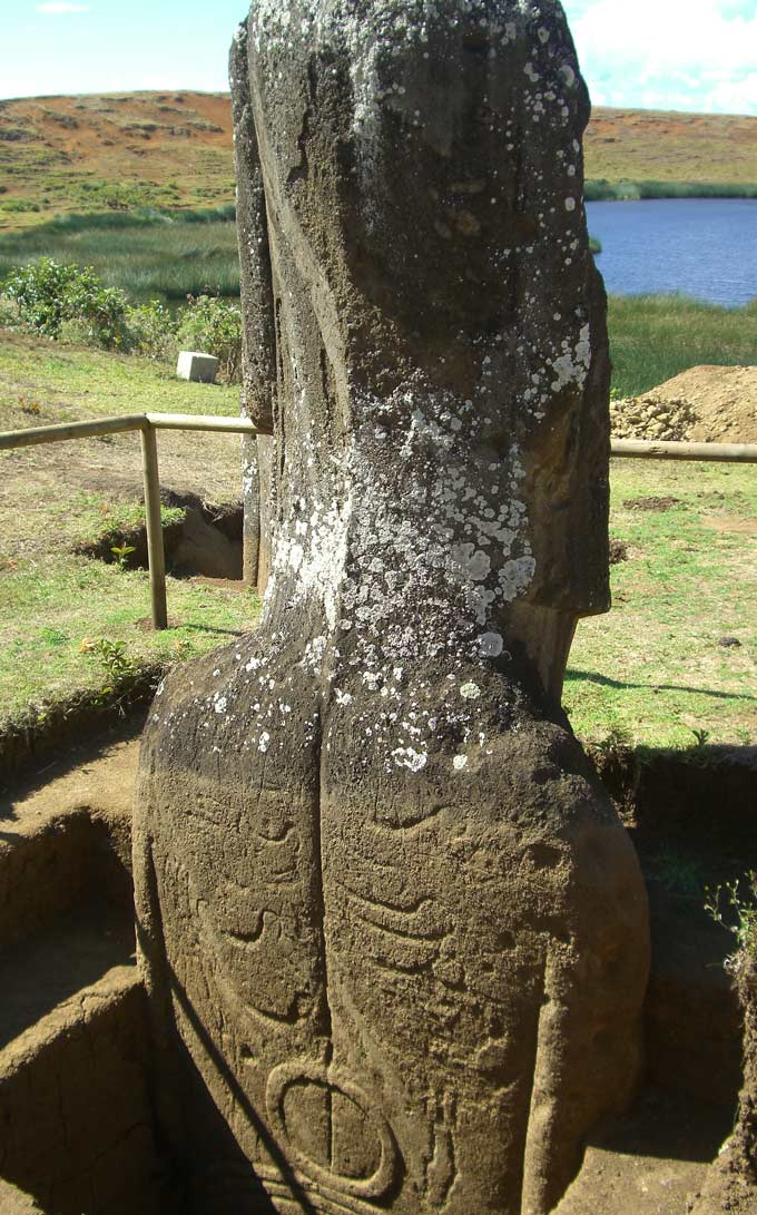 Easter island statue carvings
