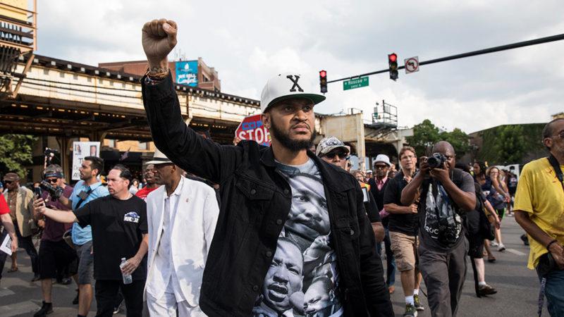 Chicago anti-violence protestors
