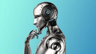 pensive robot