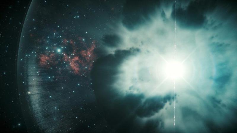 Exploding star illustration