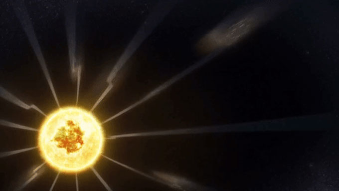 high-speed plasma currents illustration