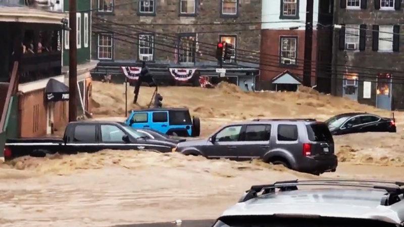 flash flooding in Ellicott City, Md.