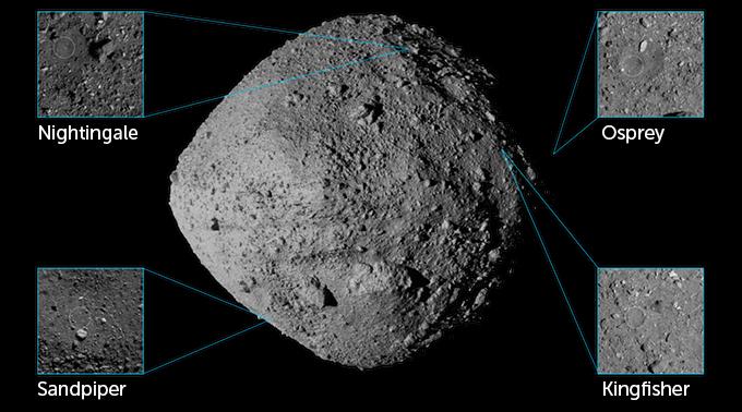 OSIRIS-REx landing site options