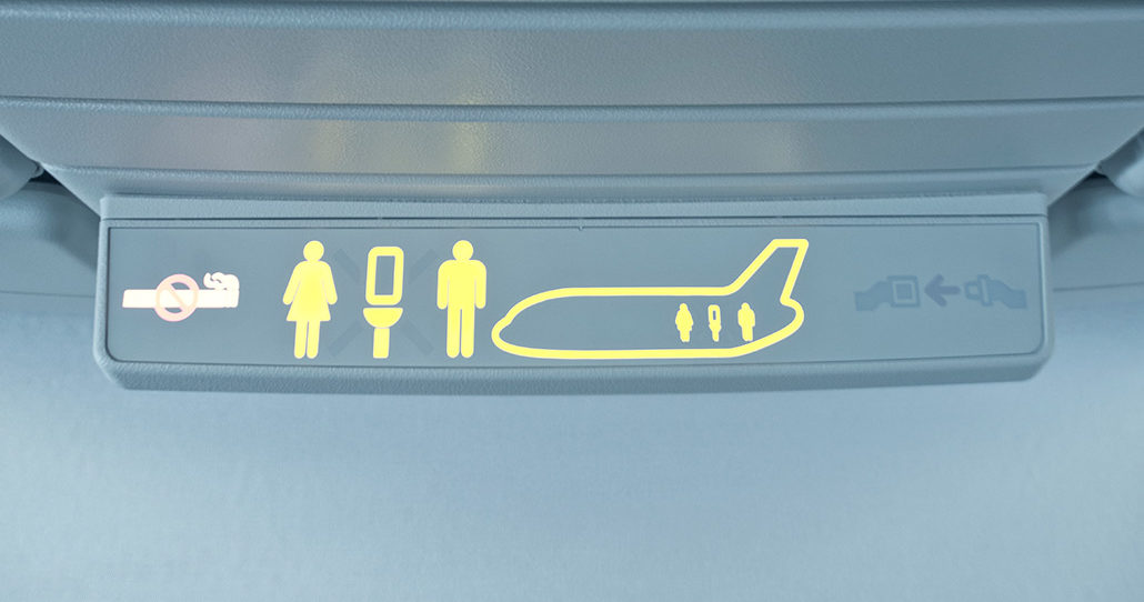 airplane bathroom sign