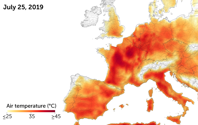 Europe heat wave 2019