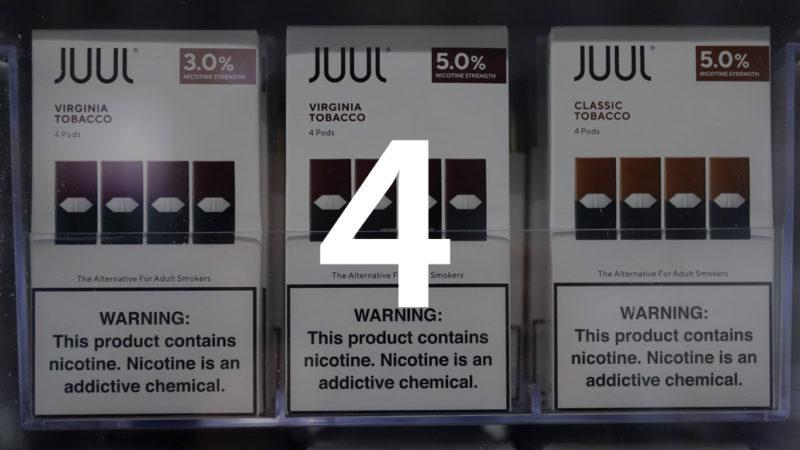 boxes of the e-cigarette Juul