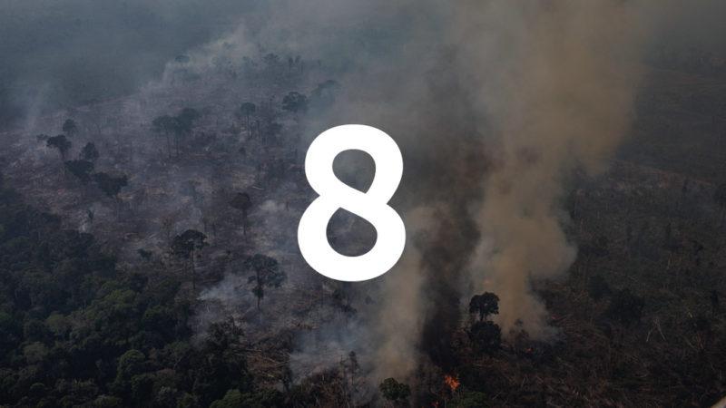 fire burning in Brazil's Amazon region