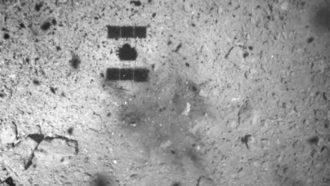 Hayabusa2 spacecraft shadow