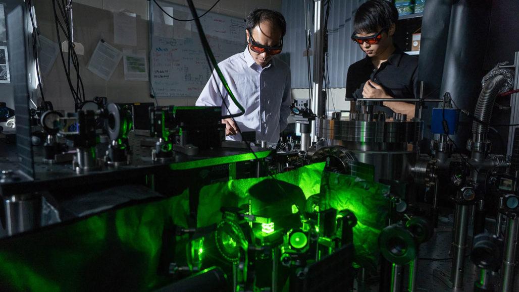 researchers working on torque sensor