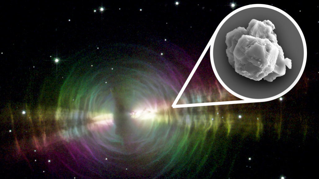 Egg nebula stardust