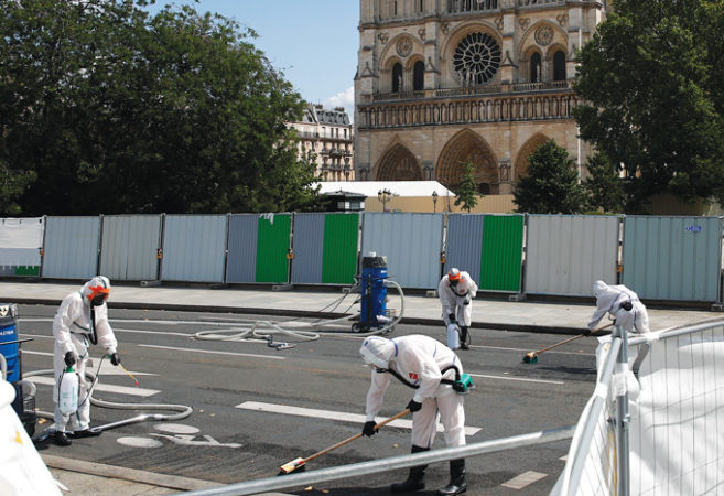 Notre Dame fire cleanup