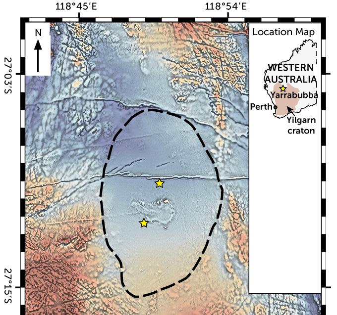 Yarrabubba crater map