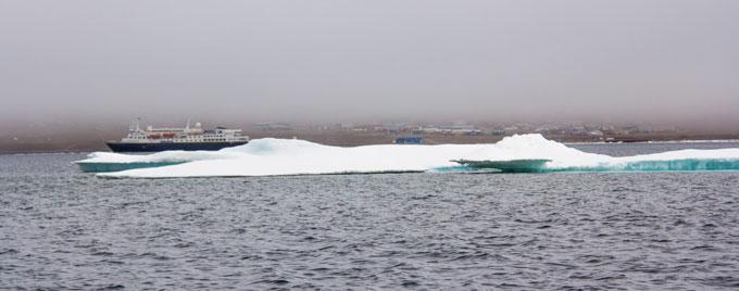 Ship in Resolute Bay
