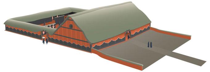 Illustration of assembly house at Nebelivka