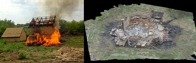 Nebelivka house burning