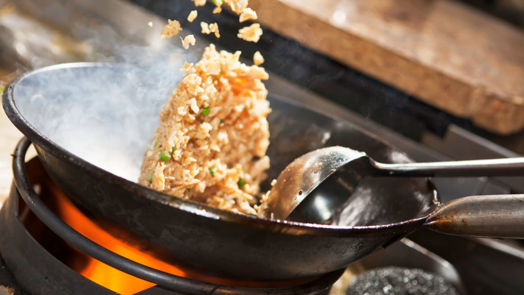 wok with fried rice