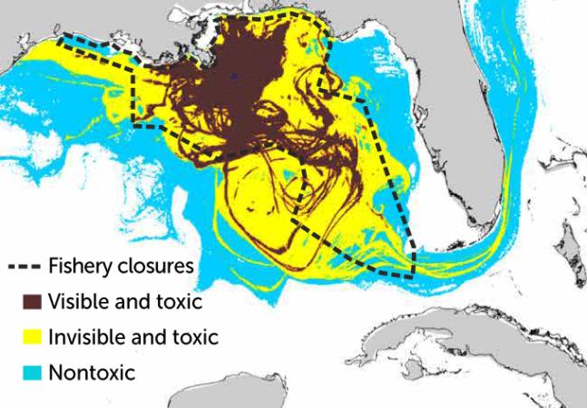 map of Deepwater Horizon oil spill