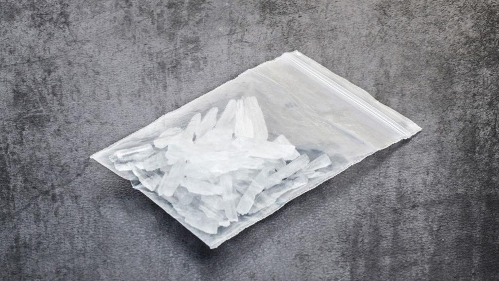 bag of methamphetamines