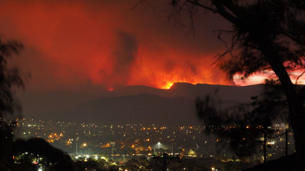 the Orroral Valley Fire in Australia