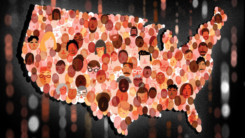 illustration of people in the United States