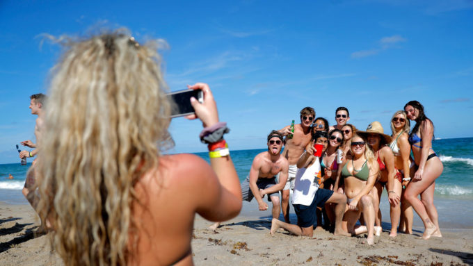 young adults at Pompano Beach