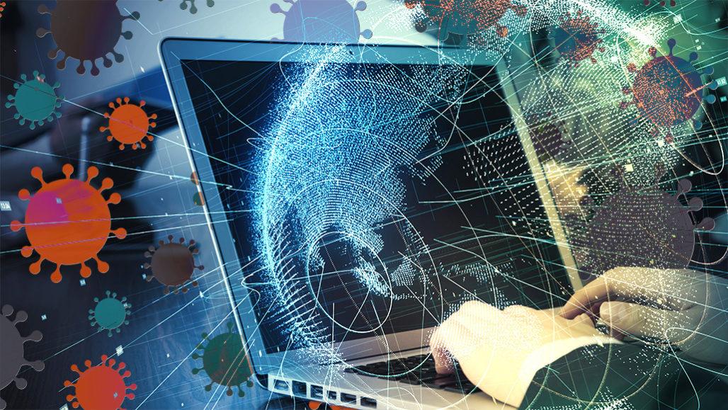 coronavirus computer illustration