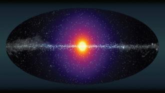 Milky Way dark matter glow illustration