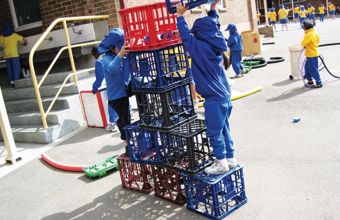 Crates at Sydney playground