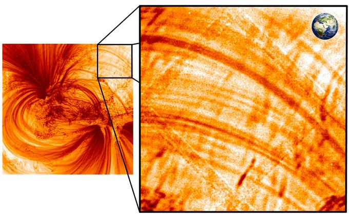 UV image of plasma on the sun