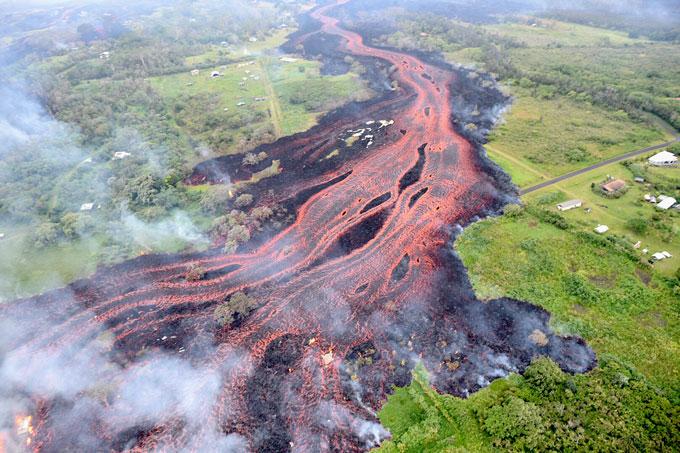 Kilauea lava flow