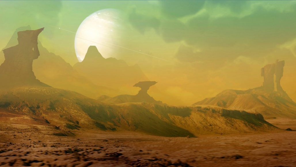 illustration of a landscape on another planet