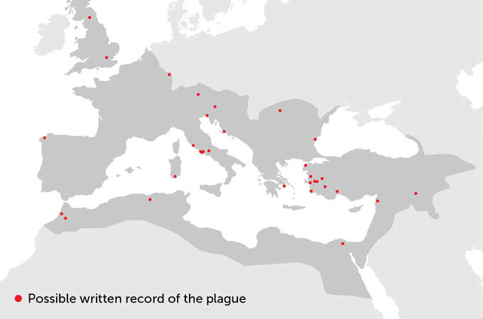 Map of the Antonine Plague in the Roman Empire