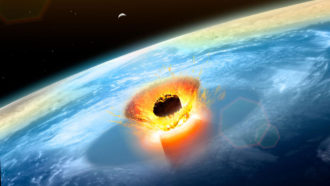 Chicxulub impact illustration