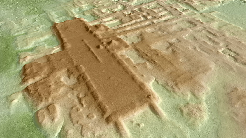 3-D rendering of Maya site Aguada Fénix