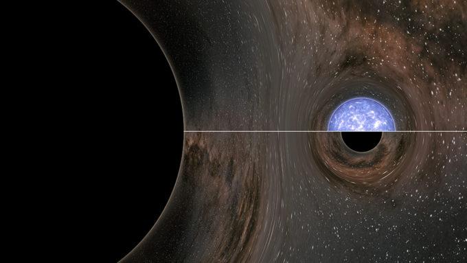 Black hole collision illustration
