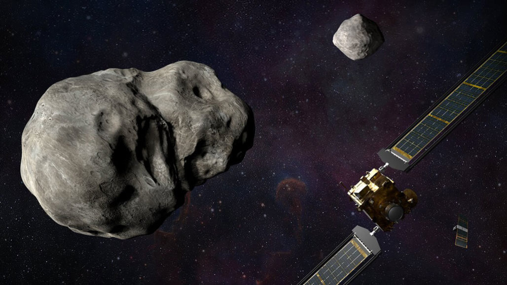 illustration of moonlet asteroid