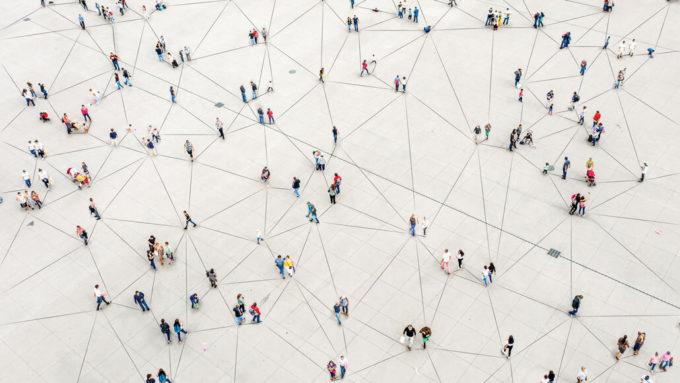 network diagram of people