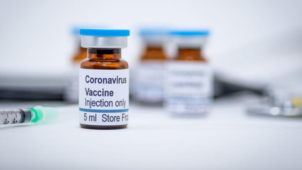 stock image of a hypothetical coronavirus vaccine