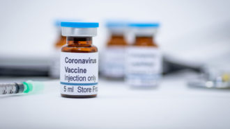 stock image of a hypothetical coronavirus vaccine