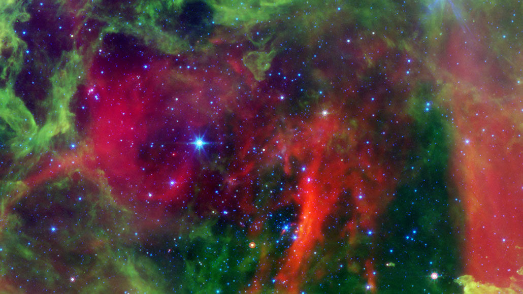 Star cluster in the Rosette Nebula
