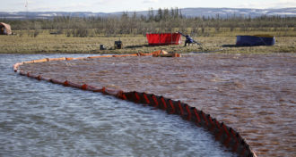 Oil spill in Norilsk, Russia