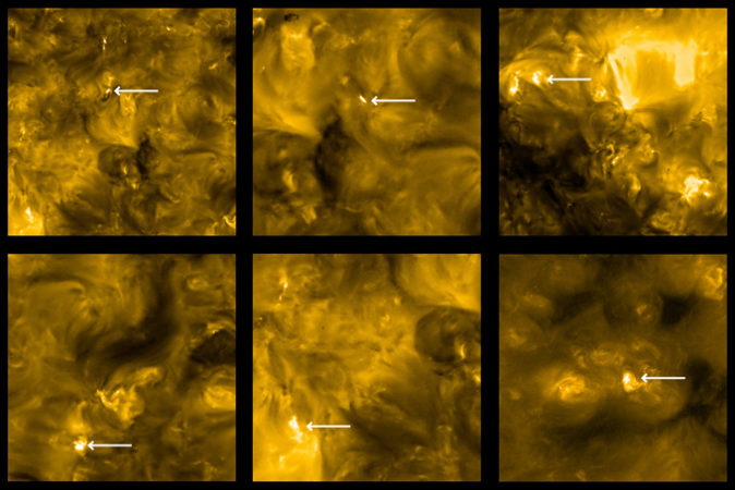 examples of 'campfire' flares on the sun