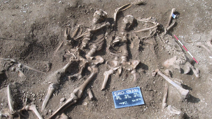 skeletons found in mass grave in England