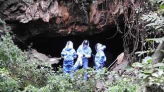 Marburg cave in Uganda