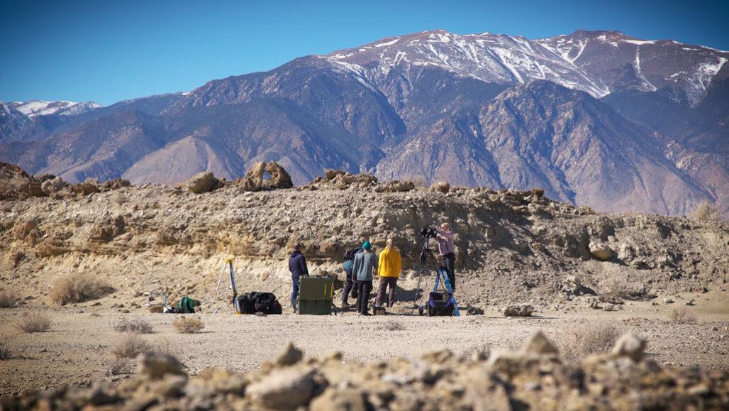 scientists in the Nevada desert